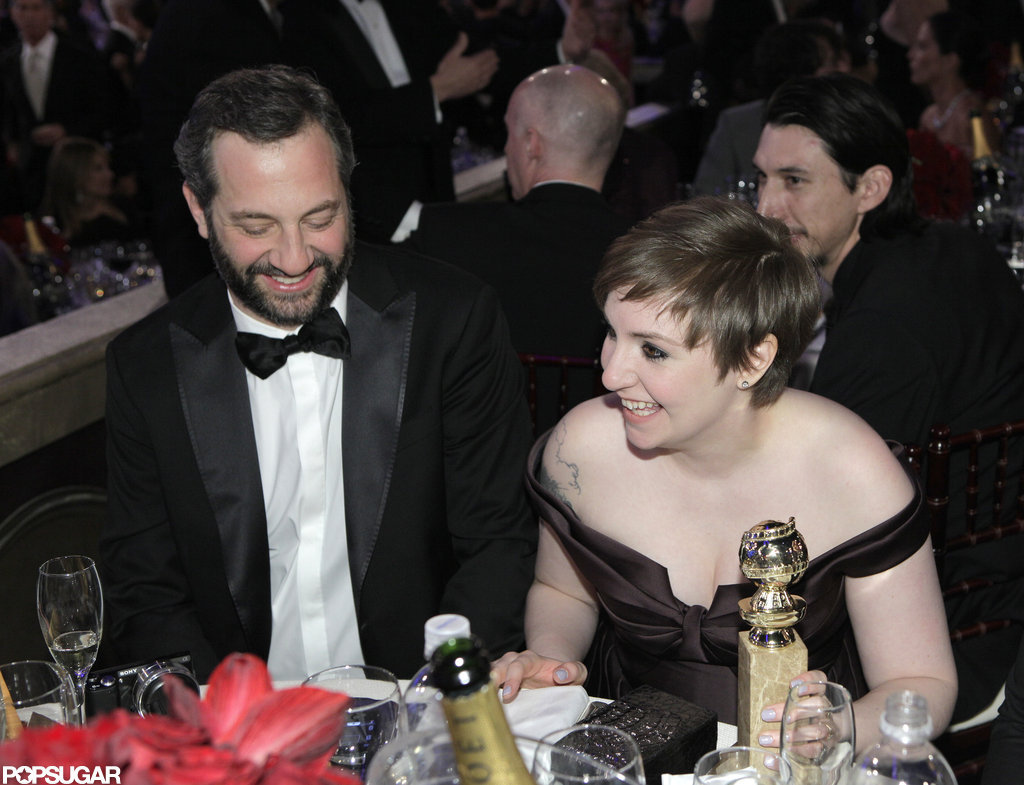 Judd Apatow and Lena Dunham shared in the excitement of Girls' big night.