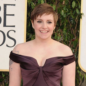 Lena Dunham Pictures in Zac Posen at 2013 Golden Globes