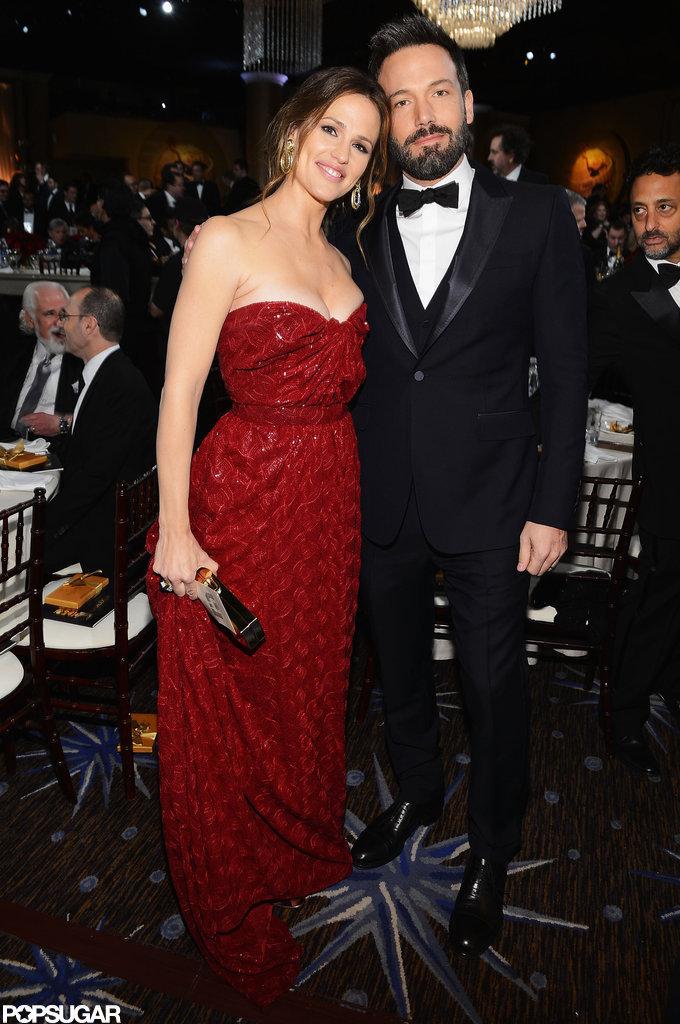 Jennifer Garner and Ben Affleck posed together at the Golden Globe Awards.