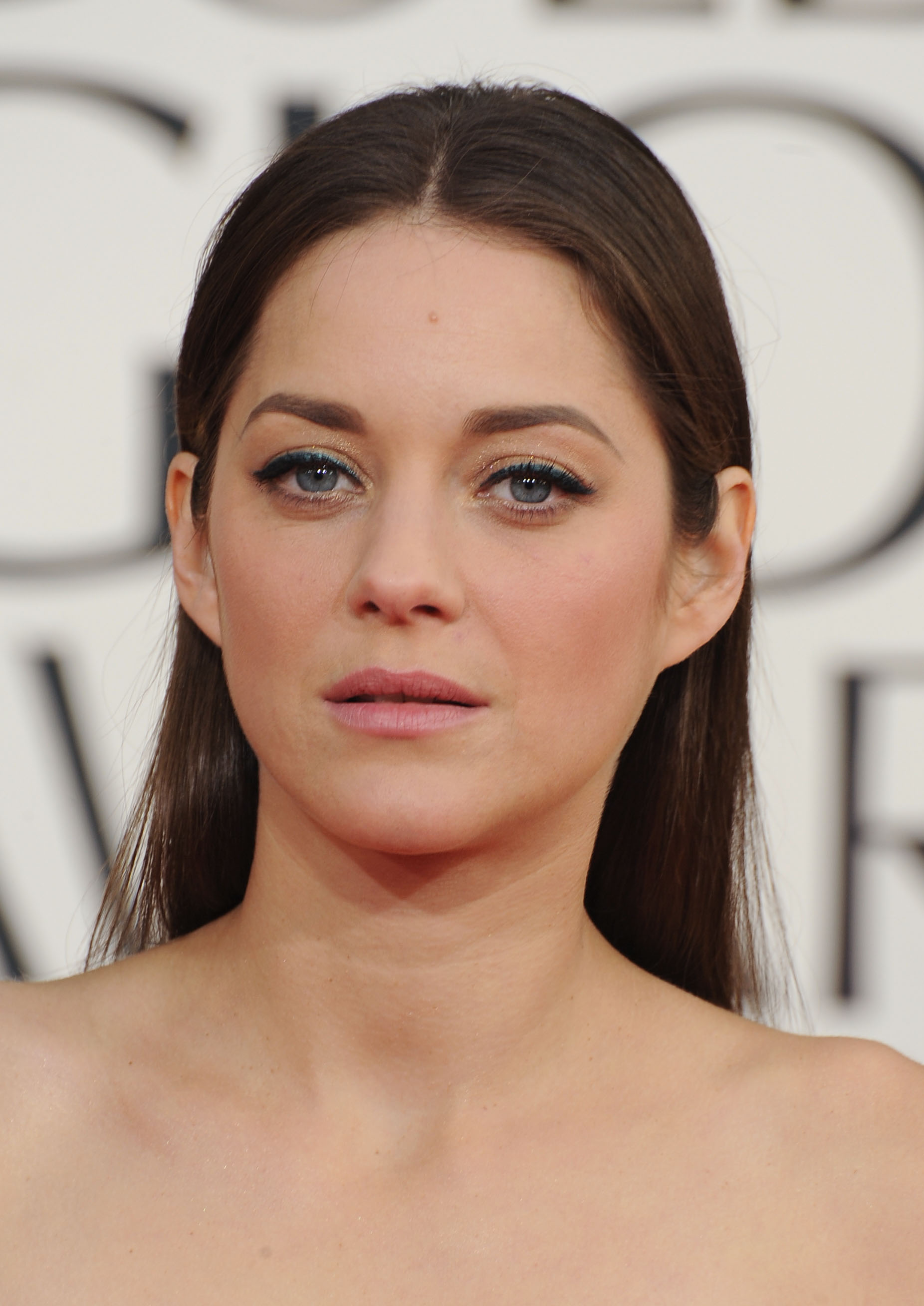 Marion Cotillard arrived on the red carpet ready for her close-up.