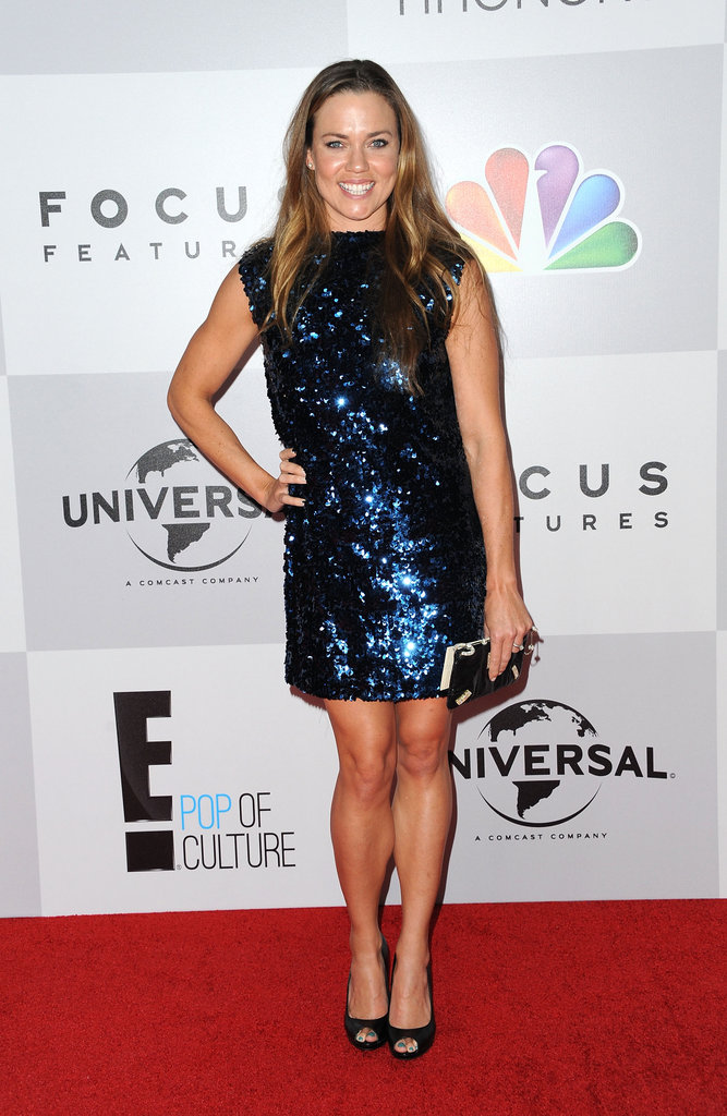 Natalie Coughlin showed some leg at the after party.