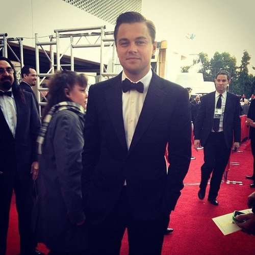 Leonardo DiCaprio looked so dapper on the Golden Globes red carpet. Source: Instagram user goldenglobes