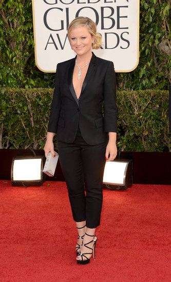 Amy Poehler attended the Golden Globes.
