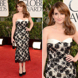 Pics of Tina Fey in L'Wren Scott at the 2013 Golden Globes