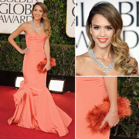 Jessica Alba | Golden Globes Red Carpet Fashion 2013