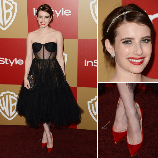 Emma Roberts Golden Globes Party Fashion 2013