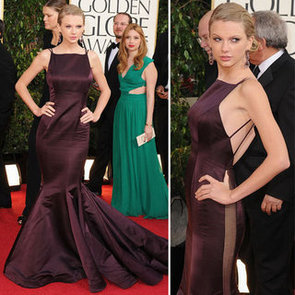Taylor Swift in Donna Karan Atelier at 2013 Golden Globes