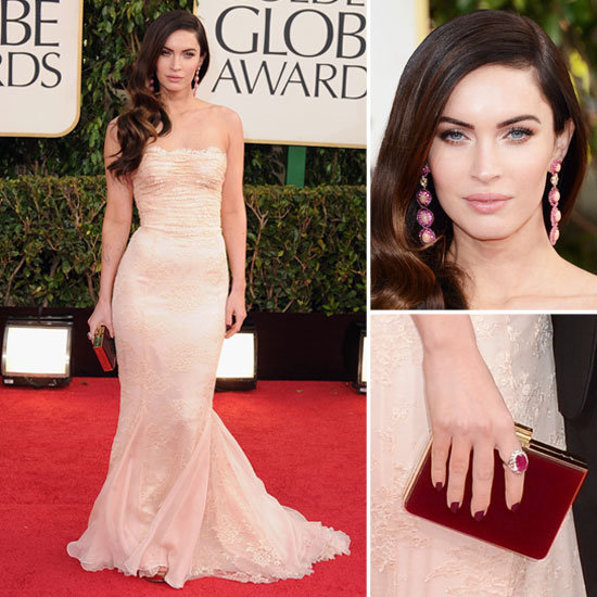 Megan Fox   Golden Globes Red Carpet Fashion 2013