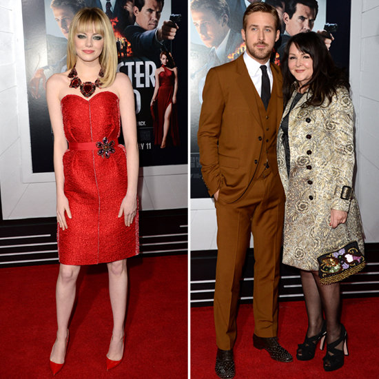 Emma Stone Joins Ryan Gosling and His Mum For Gangster Squad's Debut