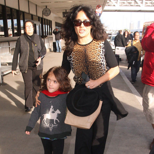 Salma Hayek With Daughter Valentina at LAX | Pictures
