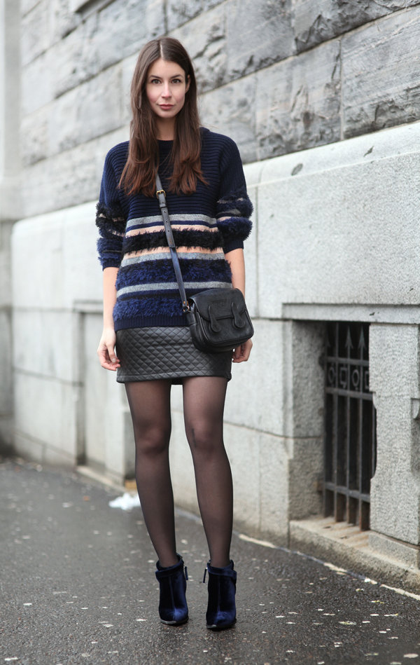 Blue hues, even on her shoes, give this slick style a great color story, to boot. Source: Lookbook.nu