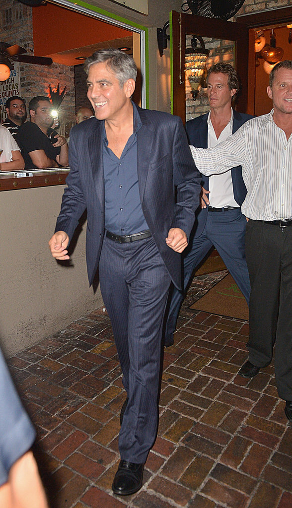 George Clooney arrived at a Casamigos tequila event in Florida as part of his tour for his new alcoholic beverage.