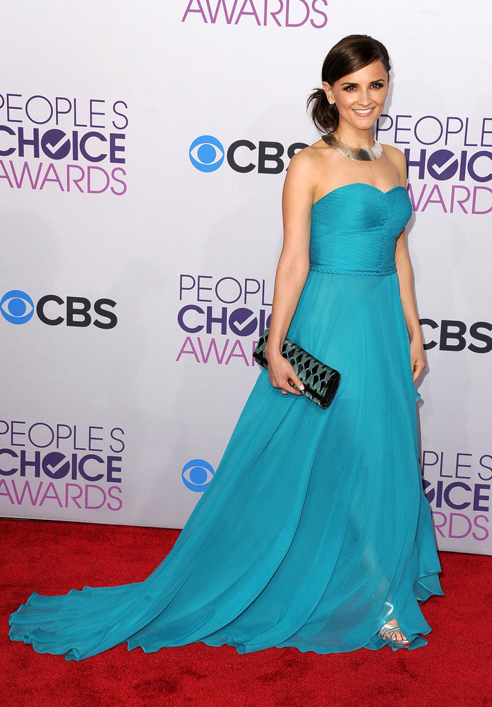 Rachael Leigh Cook looked fabulous in a turquoise gown.
