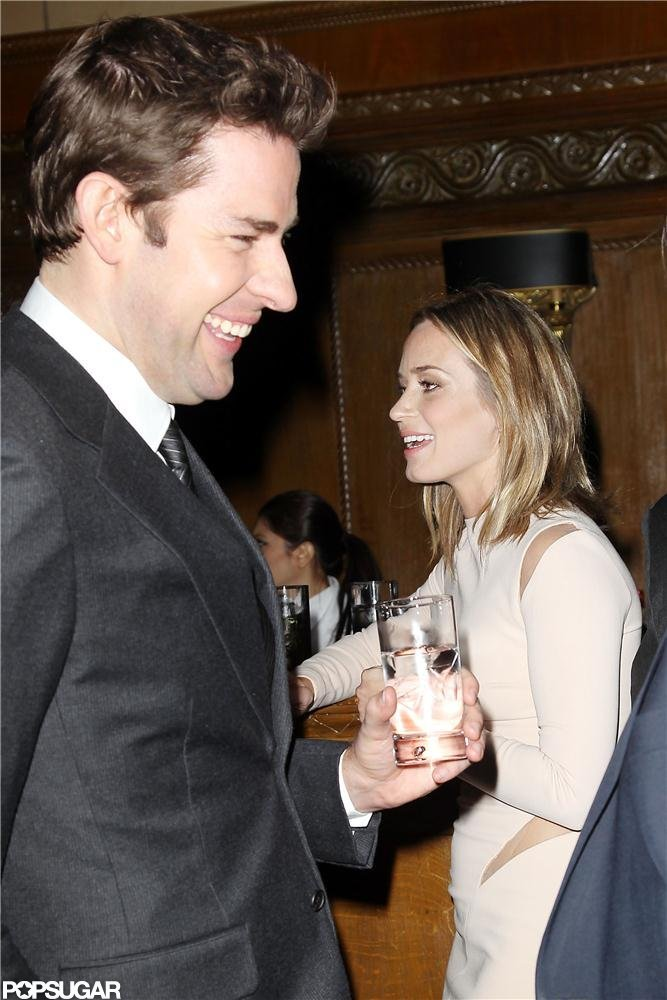 Emily Blunt and John Krasinski had a laugh inside the National Board of Review Gala in NYC.