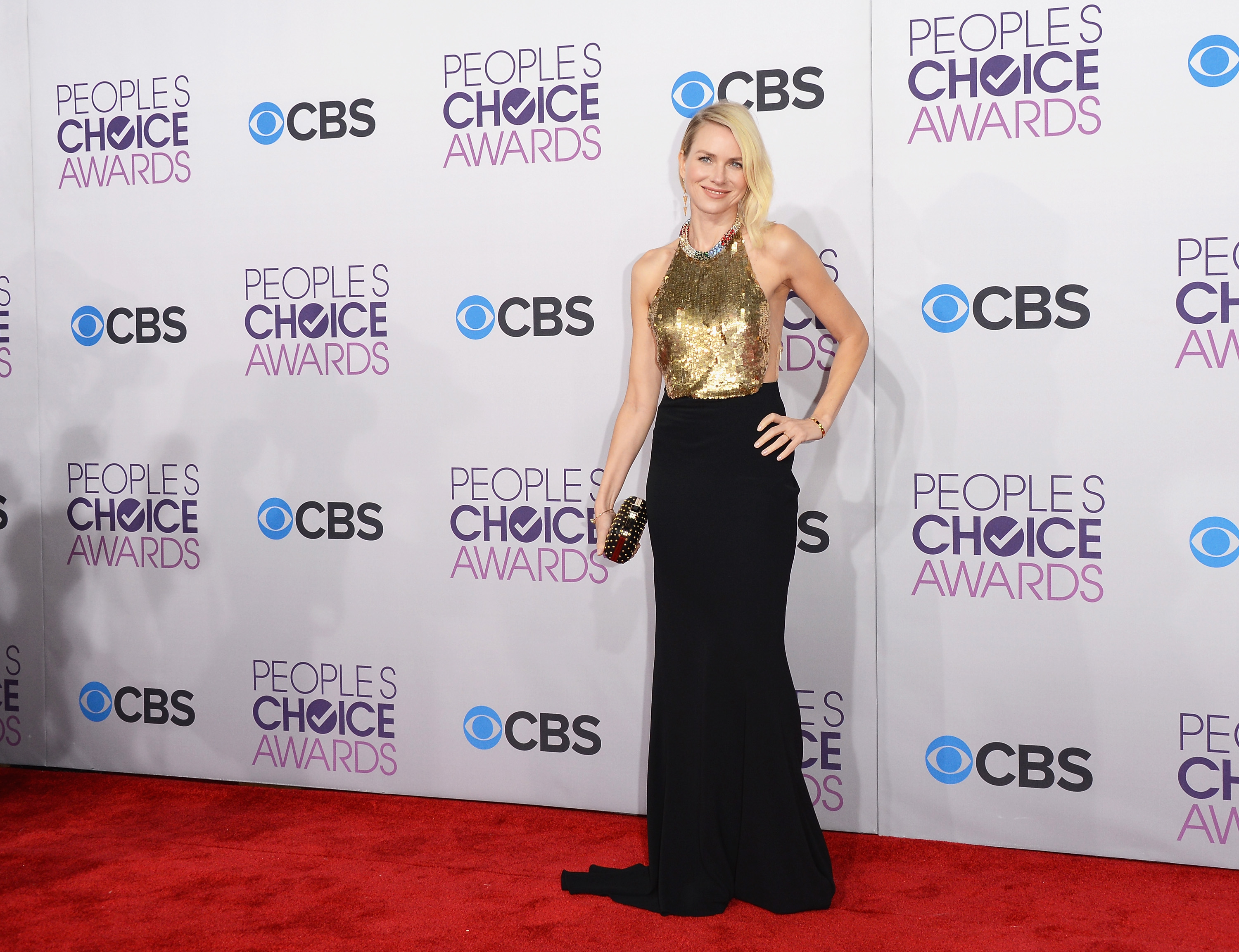Naomi Watts looked stunning in a Alexander McQueen gown on the red carpet.