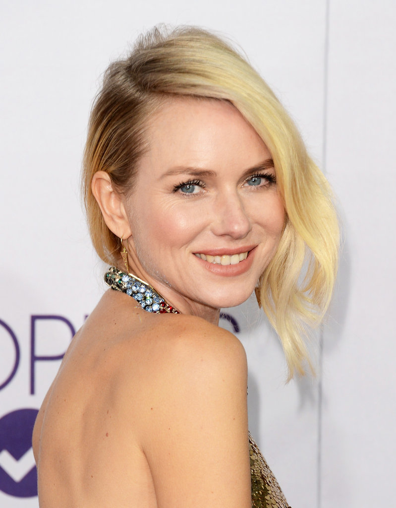Naomi Watts wore a backless Alexander McQueen gown.