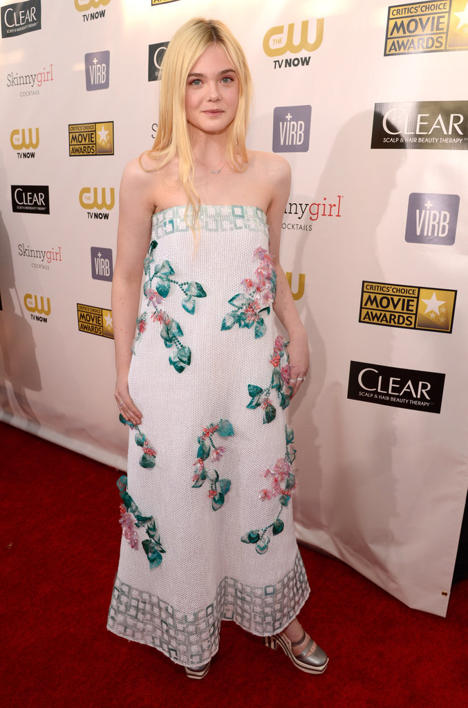 Elle Fanning posed in a Chanel gown.