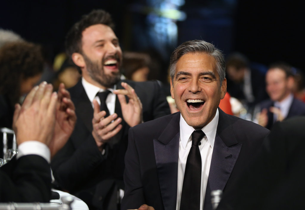 That moment in 2013 when Ben Affleck and George Clooney were both beside themselves with excitement.