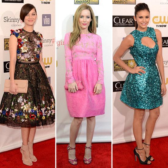 Style Poll: Nina Dobrev & More In Short Dress Critics Choice
