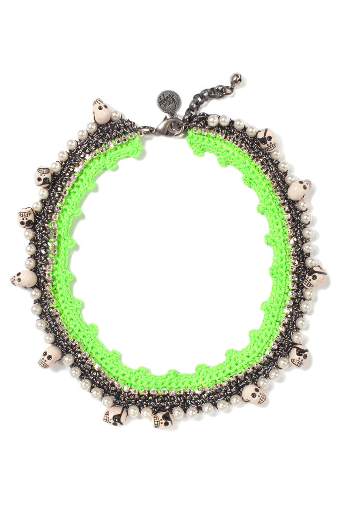 Vanessa Arizaga's death by absinthe necklace ($350) is such a fun way to add interest to a casual look.