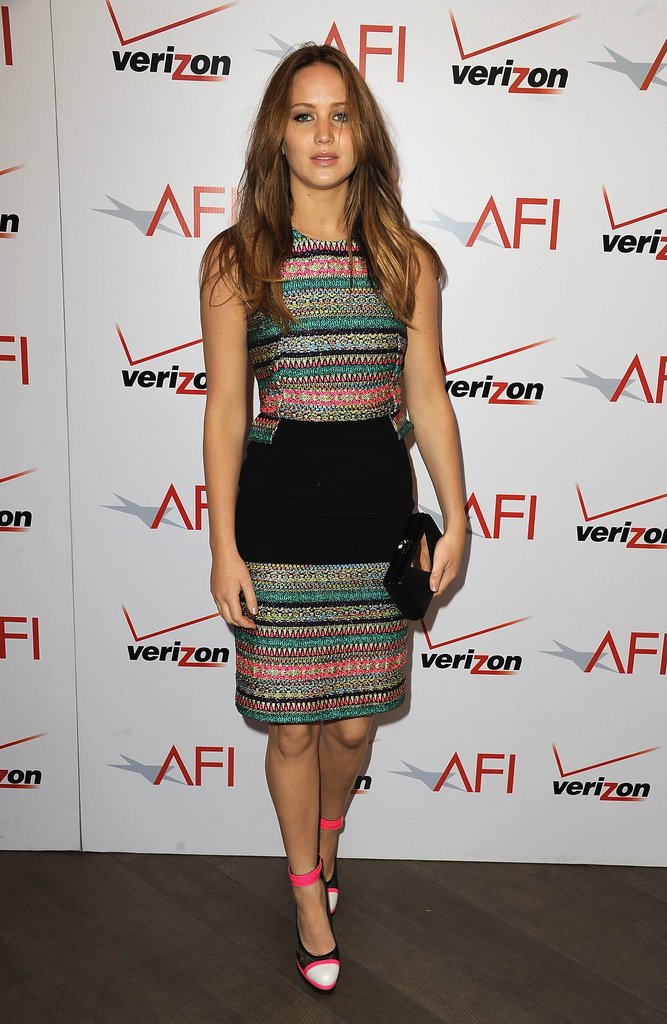 Jennifer Lawrence attended the 2013 AFI Awards.
