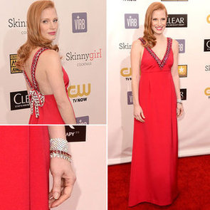 Pics of Jessica Chastain Prada 2013 Critic's Choice Awards