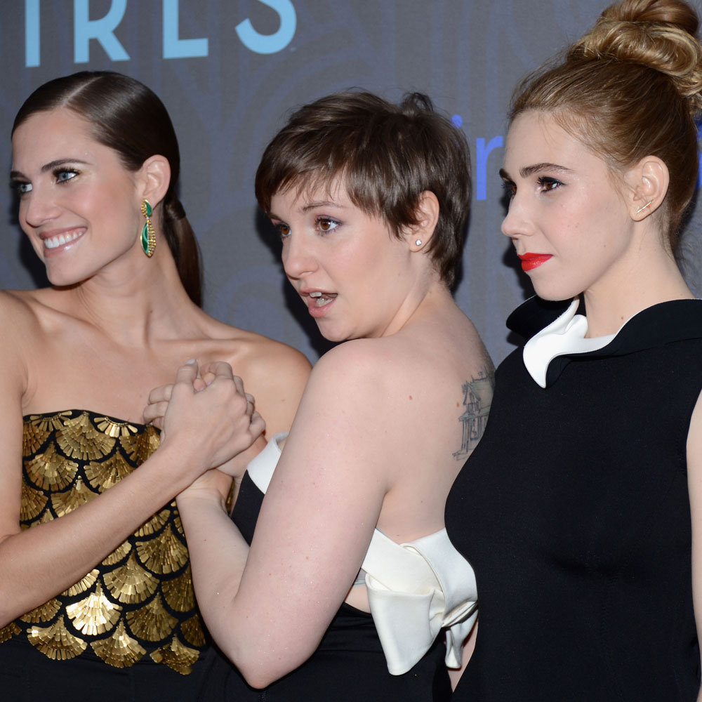 Allison Williams, Lena Dunham and Zosia Mamet