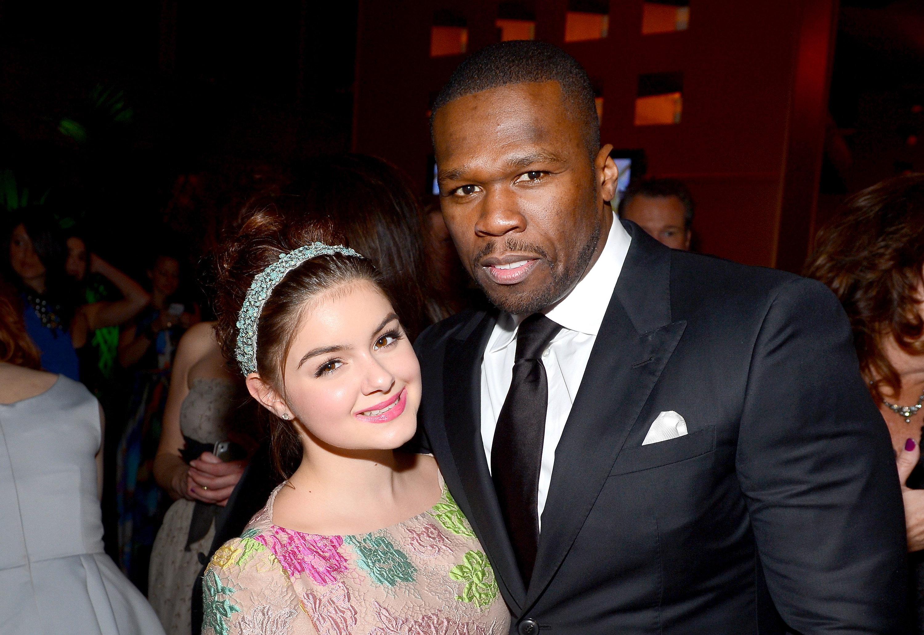 Ariel Winter and 50 cent posed together at the Fox after party.