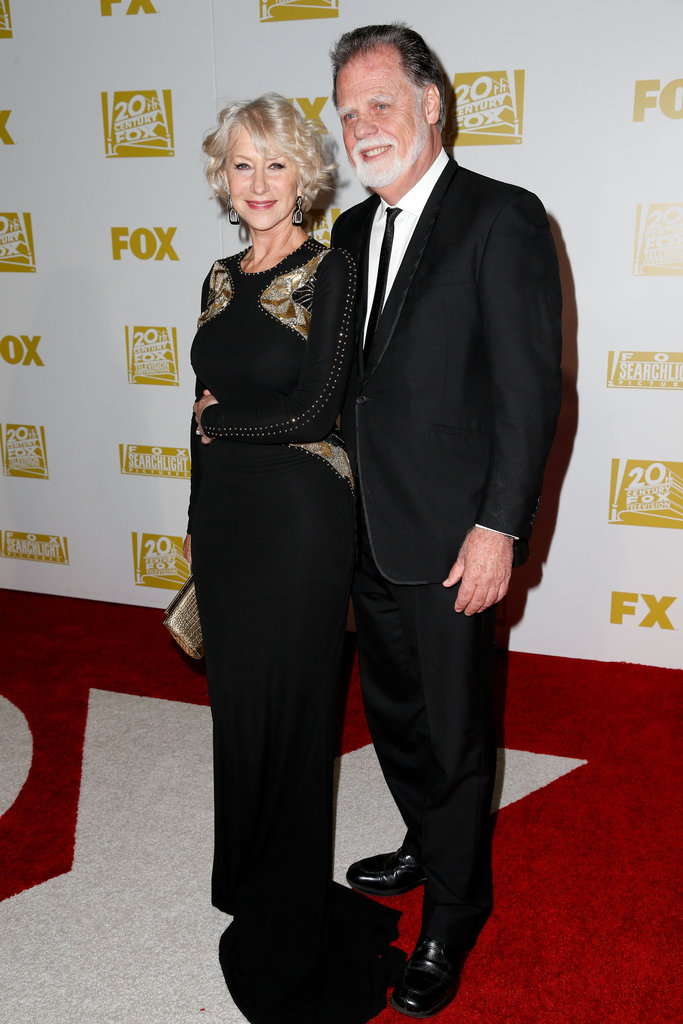 Helen Mirren and Taylor Hackford were together at the Fox Golden Globe Awards party.