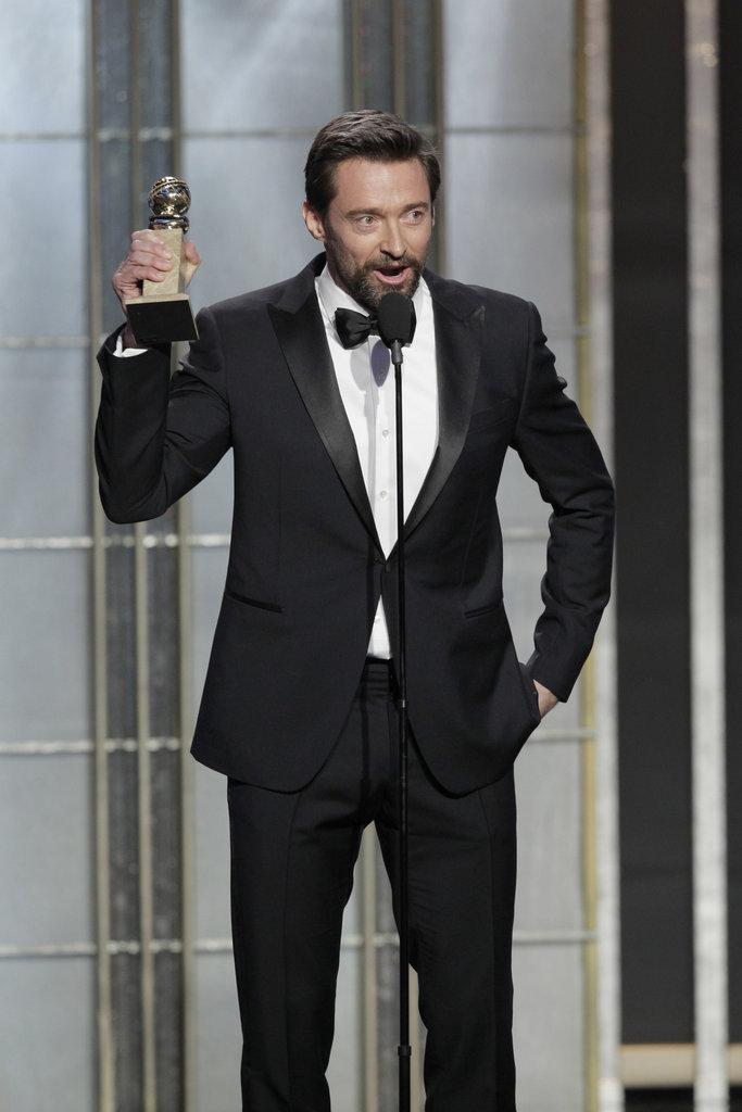 Hugh Jackman won the Golden Globe for best actor.