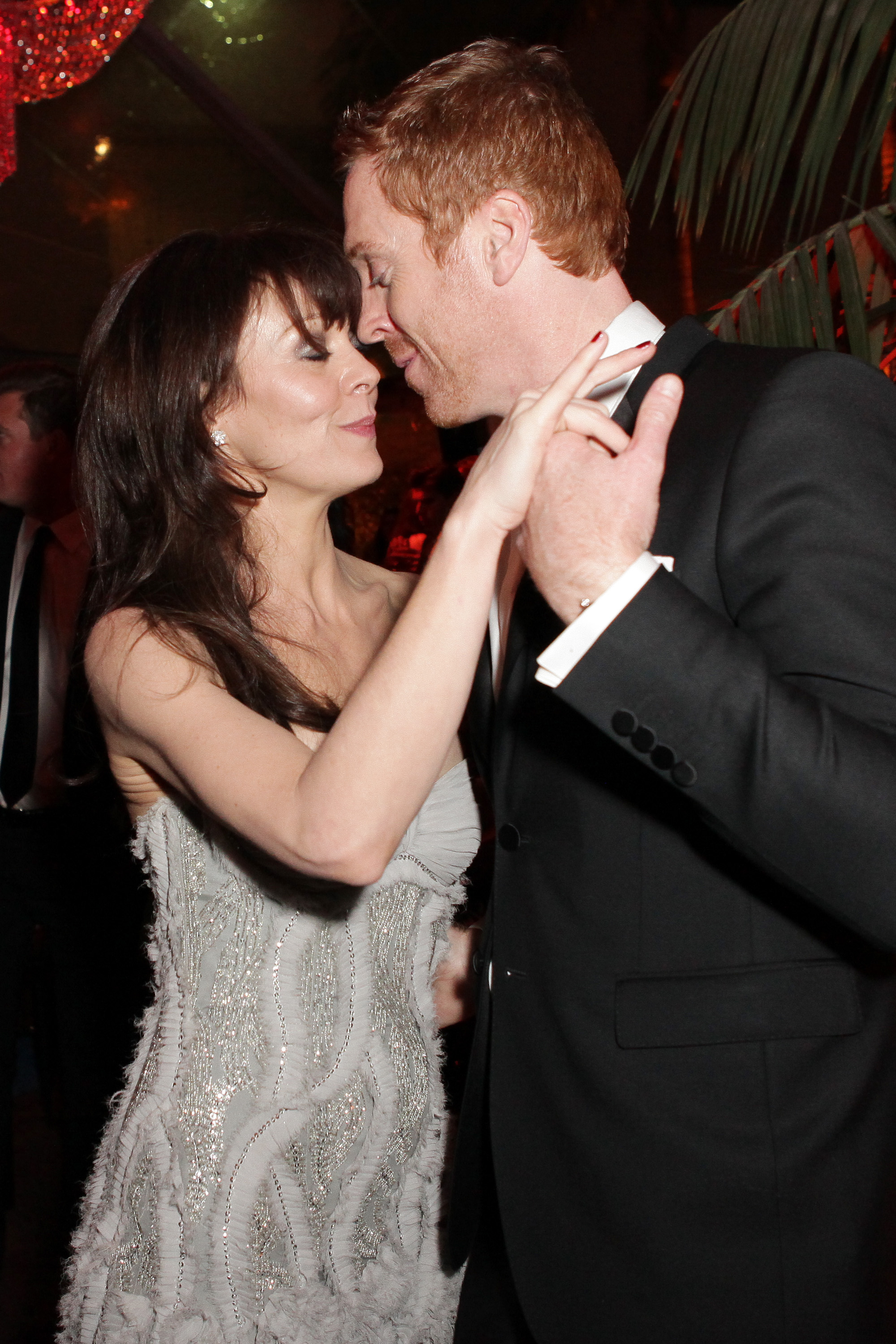 Damian Lewis and Helen McCrory cuddled up nose-to-nose on ...