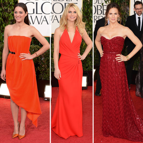 2013 Golden Globe Awards Trends: Shades of Red