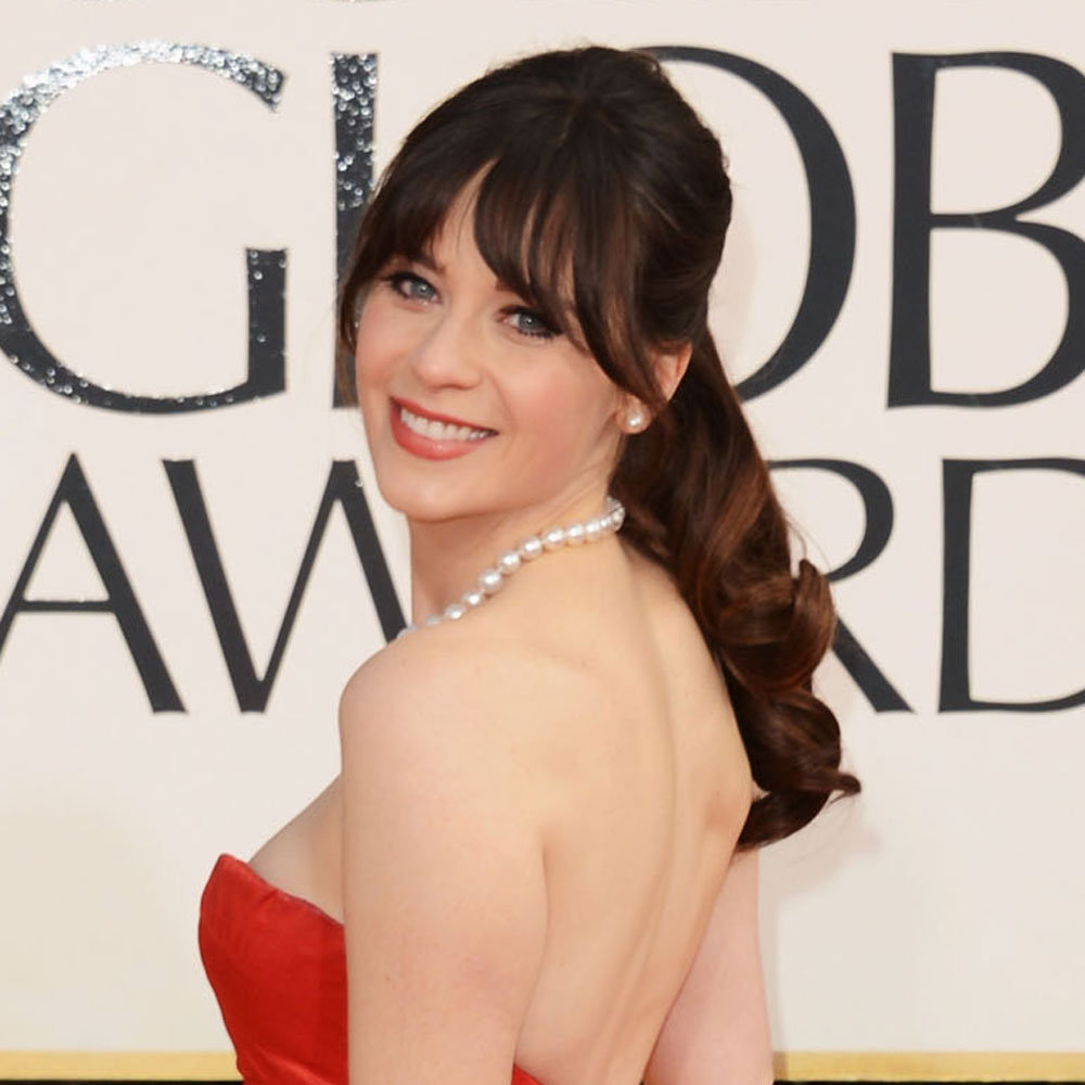 Pictures of Zooey Deschanel at the 2013 Golden Globes