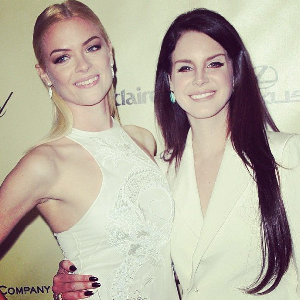 Jaime King and Lana Del Rey hit the Weinstein Company after party following the Golden Globes. Source: Instagram user lanadelrayofficial