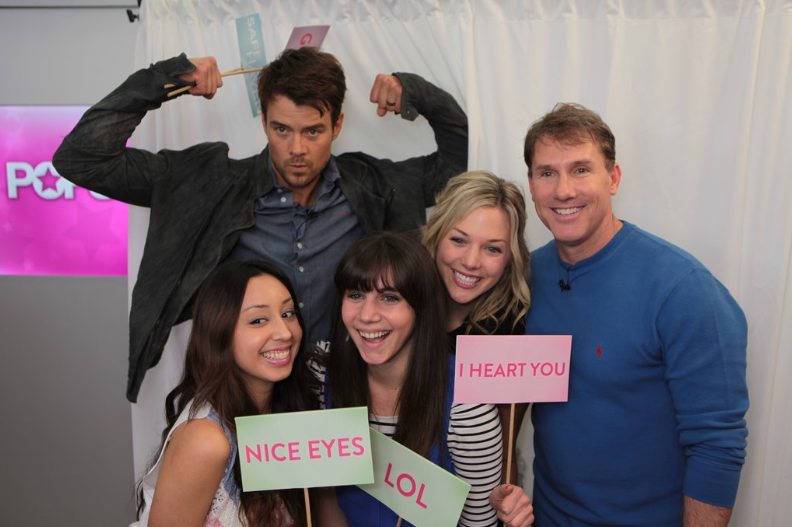 Josh Duhamel and Nicholas Sparks swung by our SF offices to talk about their movie Safe Haven —and to pose for photos!