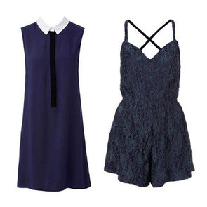 Style Trend: Navy Blue Playsuit, Tank, Shirt, Pants, Dress