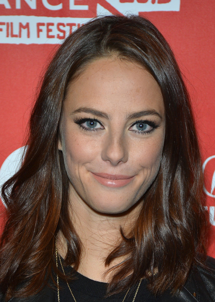 Kaya Scodelario smiled for the cameras.