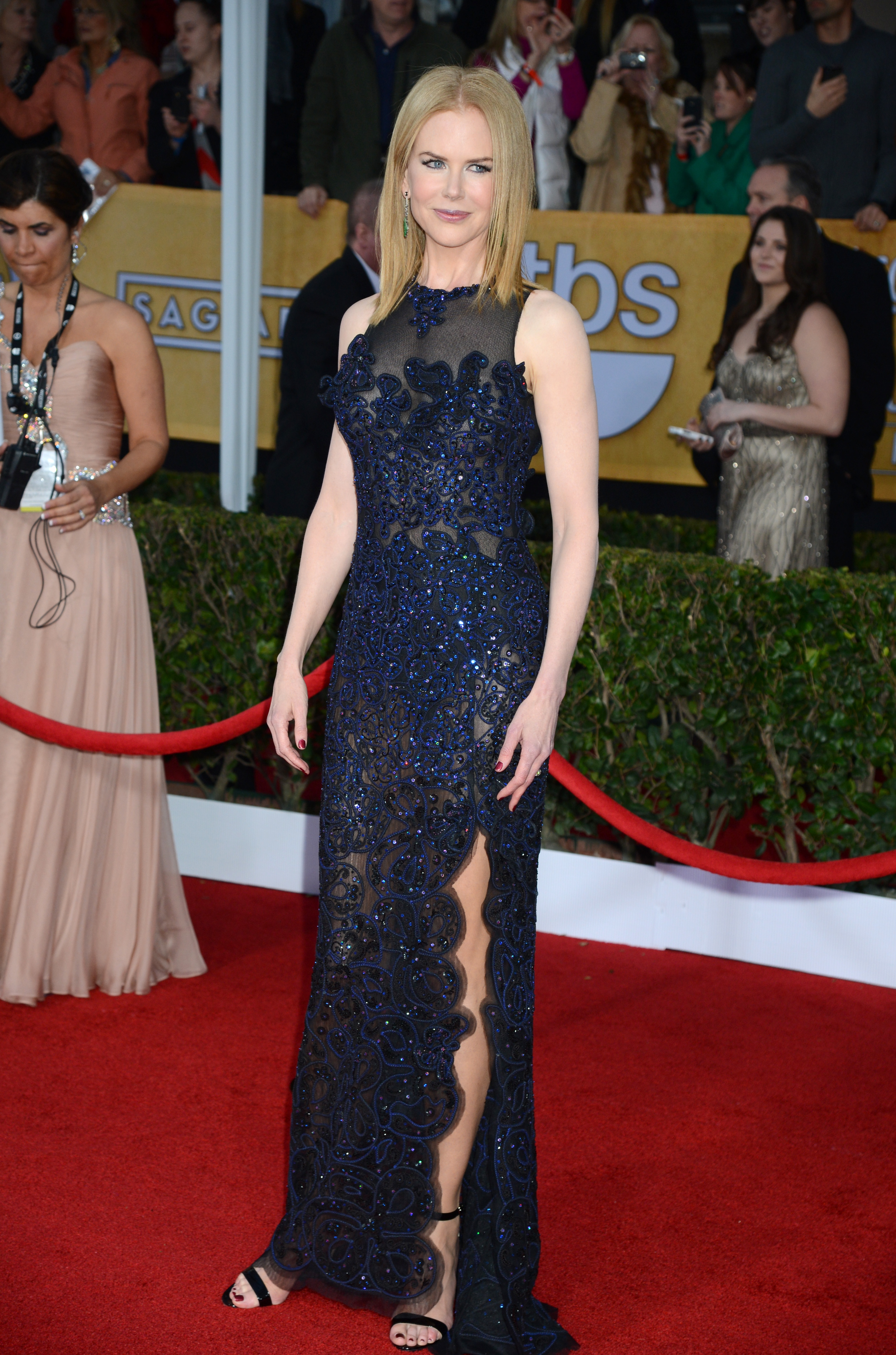 Nicole Kidman posed on the red carpet at the SAG Awards.
