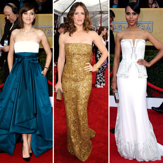 Marion, Kerry, and Jennifer Lead the Strapless-Dress Trend at the SAGs