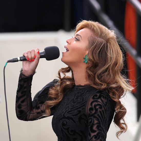 Beyonce Knowles's Orange Nail Polish   2013 Inauguration