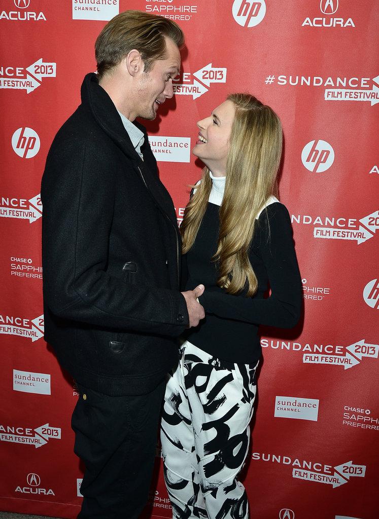 Alexander Skarsgard Cozies Up With His Costars at Sundance