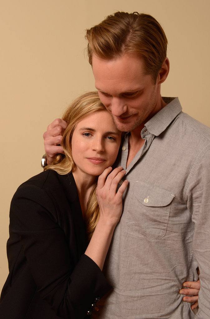 Alexander Skarsgard and Brit Marling posed for portraits for their new movie, The East, at Sundance.