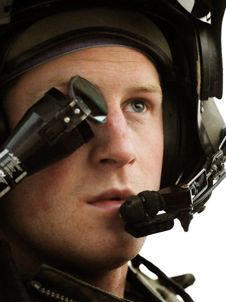 Prince Harry prepared for takeoff.