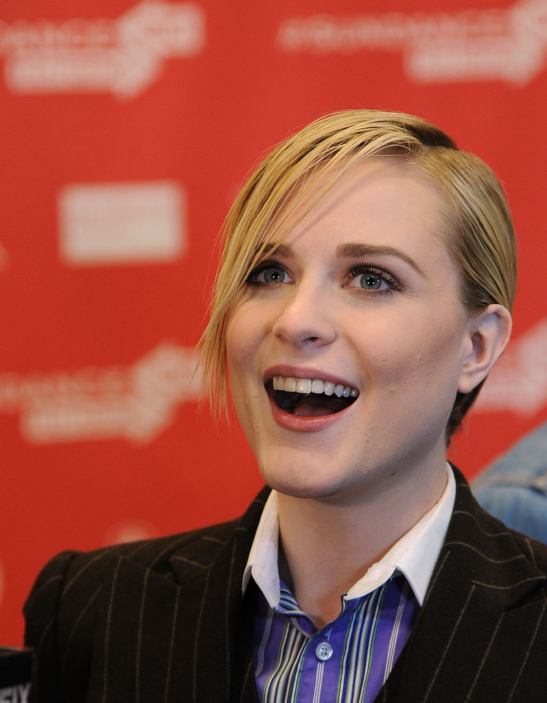 Evan Rachel Wood spoke with reporters.