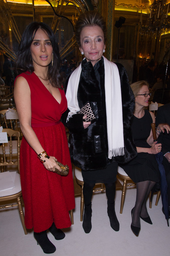 Salma Hayek and Lee Radziwill met up at Giambattista Valli's show.
