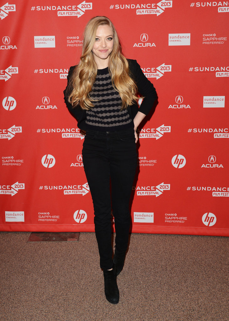 Amanda Seyfried stepped out in Park City, UT, for the Lovelace premiere.