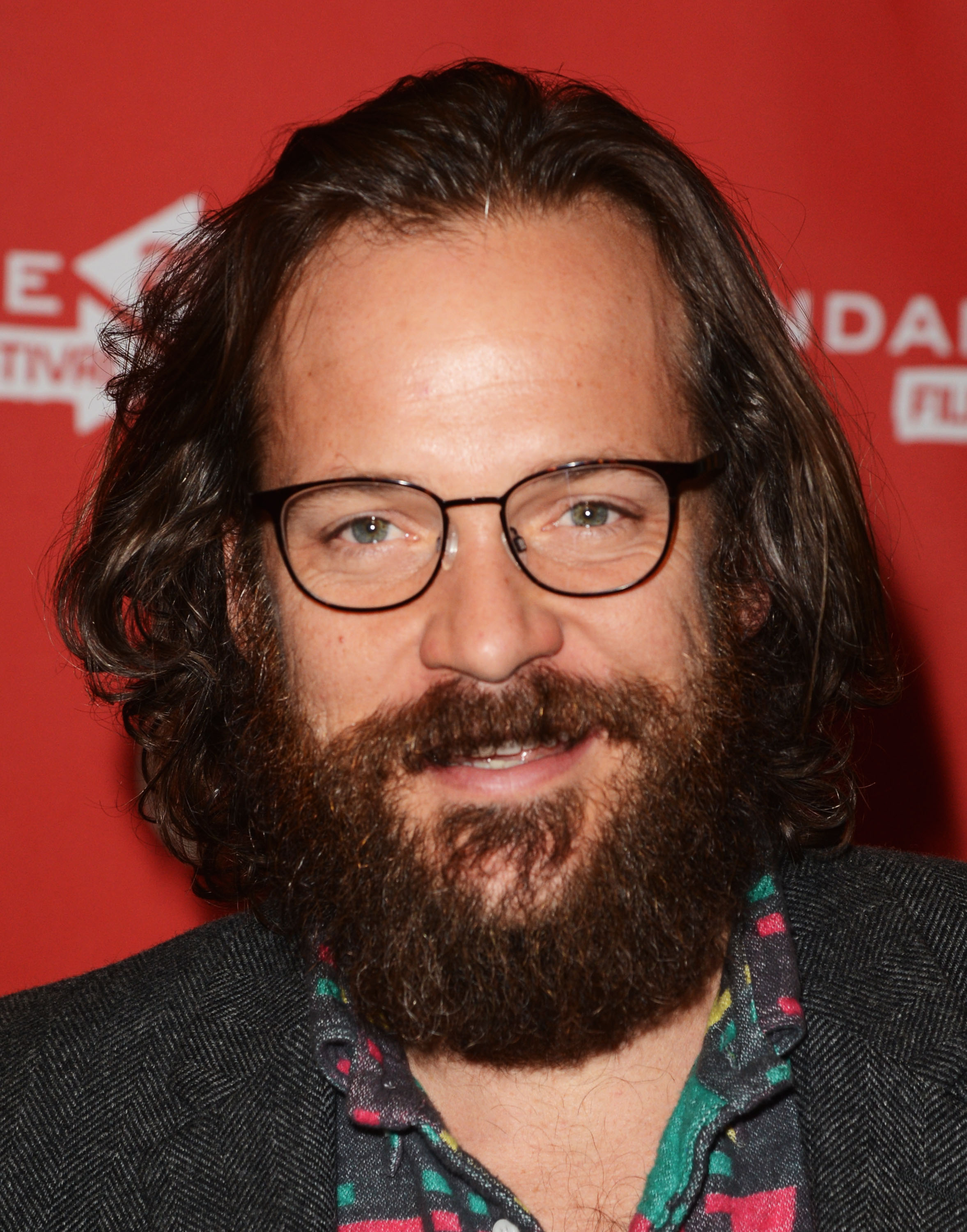 Peter Sarsgaard smiled at the Lovelace premiere in Park City.