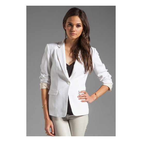 I'll be in Melbourne for the tennis, so this white blazer is a great way to weave in a traditional colour and current trend while being prepared for uncertain weather! — Laura, shopstyle.com.au country manager Jacket, approx $347, Alice + Olivia at Revolve