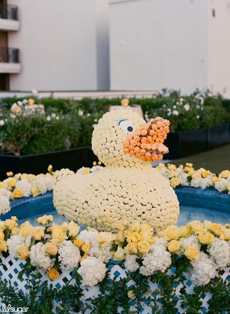 "Giant ""Rubber Duck"" Cupcake Sculpture Centerpiece"