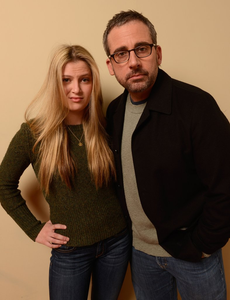 Zoe Levin posed with a bearded Steve Carell to promote The Way, Way Back at Sundance.